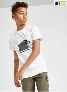 THE NORTH FACE Kids T Shirt Boys 100% Cotton White, Casual Junior T-Shirt Top