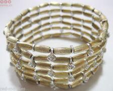 Pulseras de bisutería brazaletes color principal plata