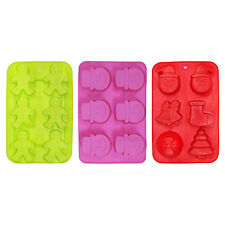 Set of 3 Large Christmas Chocolate / Cake Baking / Soap Silicon Moulds