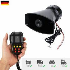 7 Sound Auto Horn Hupe Warnung Alarm Fanfare Polizei Sirene PKW Lautsprecher 12V
