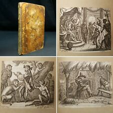 18th Century SCRAPBOOK with 59 ENGRAVINGS Mounted FABLES - MYTHOLOGY Scarce