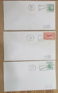 """(3) DIFFERENT NEVADA COVERS w/SLOGAN"""" SILVER CENTENNIAL See Pic"""