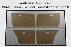 BMW 5 Series - Second Generation Door Cards. Blank Trim Panels 1981-1988 E28