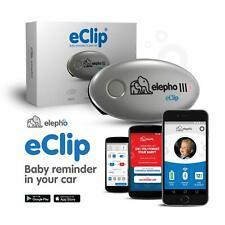Elepho eClip Baby Safety Alert Reminder Attaches Car Seat, Seat Belt, Diaper Bag