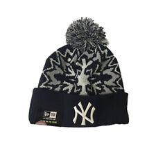 RARE Official 2015 MLB NEW YORK YANKEES New Era Glowflake Knit Beanie Hat