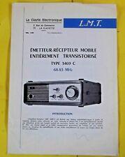 Fascicules Émetteur - Récepteur Mobile entièrement Transistorisé Type 3469 C