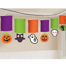 Clearance Halloween Cute Characters Paper Lantern Garland Decoration