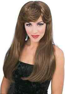 Glamour Wig Long Bangs Fancy Dress Up Halloween Adult Costume Accessory 3 COLORS