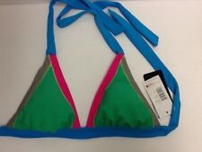 ABS Swimwear NEW with Tags Color Block Bikini Halter Top Size 6 Macy's MSRP $44