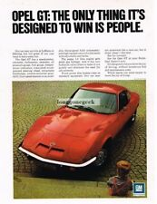 1972 Buick Opel GT Red Little Boy Vtg Print Ad