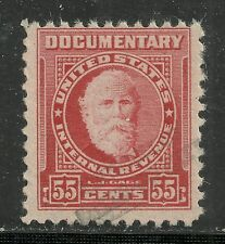 U.S. Revenue Documentary stamp scott r665 - 55 cent issue of 1954 - #3