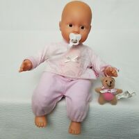 """Baby Born Zapf 9"""" Doll with Pacifier and Mini Teddy Bear"""
