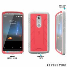 for ZTE Axon 7 Poetic Revolution Shockproof Rugged Protection Hybrid Case Pink