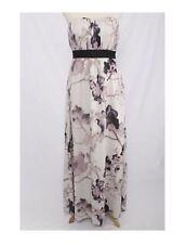 H&M Pale Purple Sakura Floral Print Ruched Strapless Maxi Dress Sz 2/4