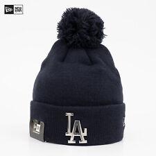 NEW ERA Cap MLB LA Los Angeles Dodgers Bommel Mütze Beanie Metal Chrom Logo Blau