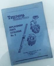 1958/1959 Triumph Motorcycle Orig Factory Parts Book Manual Tiger Cub T20 T20C