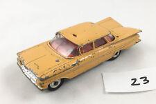 VINTAGE CORGI # 221 CHEVROLET IMPALA TAXI DIECAST CAR 1961-63 YELLOW