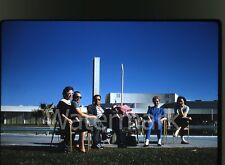 1959  Kodachrome Photo slide California to Las Vegas NV vacation trip pool #2