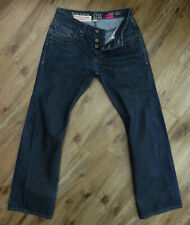 """RIVER ISLAND Slouch """"TRICKY TURN UP"""" Button Fly Jeans W30 L30"""