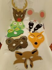 Woodland Animal Foam Mask,s 8  Different Animals etc £2.75 each mask, free P&P
