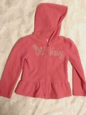 Old Navy Girls Pink Long Sleeve Pull Over Sweater with Hoodie Size 5T