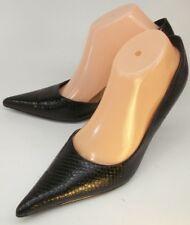 Diba Womens Shoes Heels US8.5B Black Snake Print D'orsay Pointy Toe Dress Work