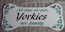 Yorkshire Terrier Dog Bone Plaque/Wall Hanging