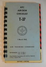 1960 Atc Flight Crew Checklist T-37