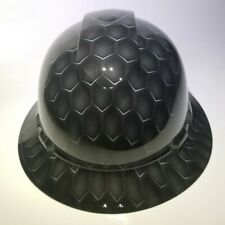 NEW FULL BRIM Hard Hat custom hydro dipped in 3D GRAY HEX CARBON DEEP 3D EFFECTS