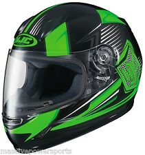HJC CL-Y Striker Motorcycle Helmet Neon Green Youth L LG Large Full Face CHILDS