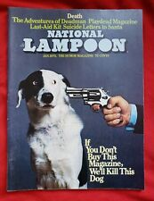 National Lampoon January 1973 Vol 1 #34 Death Issue White Pages! FN/VF