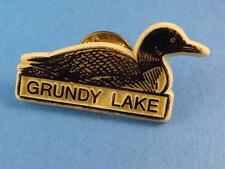 GRUNDY LAKE LOON PIN ONTARIO  CANADA SOUVENIR BUTTON VINTAGE COLLECTOR