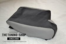 For Bmw 3 Series E46 99-05 Armrest Cover Black & Grey Leather