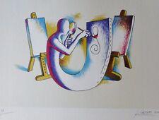 "MARK KOSTABI ""L' Atelier del Pittore"" 2000 HAND SIGNED Litho URBAN ART US ARTIST"