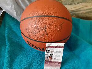 Raptors Vince Carter Spadling  autographed Spalding Basketball JSA Certified