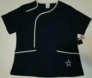 New Dallas Cowboys authentic NFL Football women's Scrub Top Large L shirt NWT