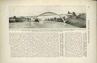 1919 Magazine Article New Highway Bridge Built Over Willamette River Oregon OR