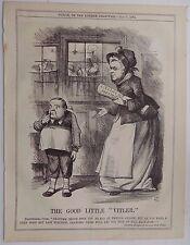 Revista Punch antiguo libro de impresión de 1874 Ley de Licencias publicano sátira 10x8 pulgadas