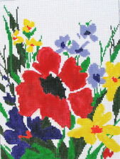 Wildflowers Hand Painted Needlepoint Canvas