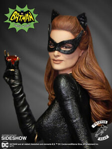 1966 CATWOMAN  JULIE NEWMAR  RUBY EDITION  SIDESHOW  TWEETER HEAD SEALED MIB
