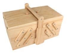 Boîte à ouvrages en bois 30,5 x 20 x 18 cm  réf. 7540