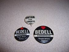 BEDELL & ORTON for CONGRESS - VINTAGE POLITICAL PINBACK LOT