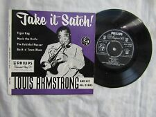 LOUIS ARMSTRONG EP TAKE IT SATCH philips BBE 12035