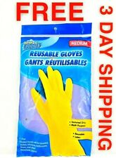 Scrub Buddies Reusable Latex Gloves 1-Pair Medium Size, Protect Your Hands 😷