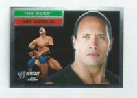 2006 Topps Chrome WWE Heritage Dwayne Johnson THE ROCK #10 RARE WRESTLING