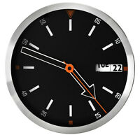 High Quality Wall Clock - PERFECT - Metal Case , Date