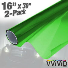 "VViViD Green Air-Tint Headlight Taillight Vinyl Wrap Decal 16"" x 30"" DIY 2-pack"