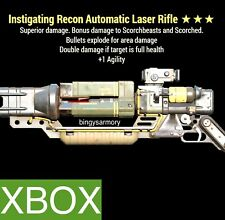 IE LASER RIFLE | INSTIGATING EXPLOSIVE 1 AGILITY XBOX FO 76 LEGACY WEAPON RARE