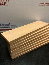 """x8 Thin Cherry Lumber 3/8"""" Thick Dimensional Planed Wood Project Craft"""