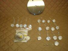 ZEEFO Crystal Chandeliers Light Mini Style with Flush Mount Fixture *PLEASE READ
